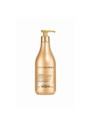 L'Oréal Loreal Absolut  Yıpranmış Saçlar İçin Onarıcı Gold Şampuan 500 ml Renksiz